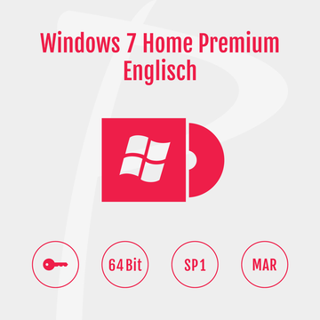 Microsoft Windows 7 Home Premium 64-Bit Refurbished MAR Englisch
