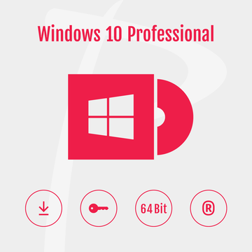 Microsoft Windows 10 Professional 64-Bit, Original