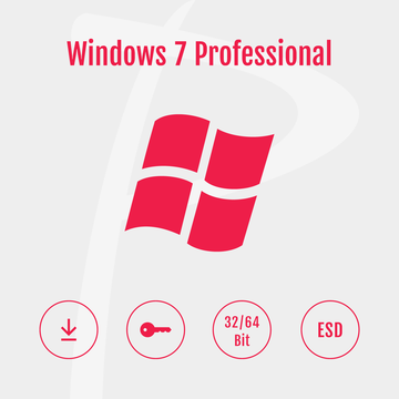 Microsoft Windows 7 Professional ESD, Download Version