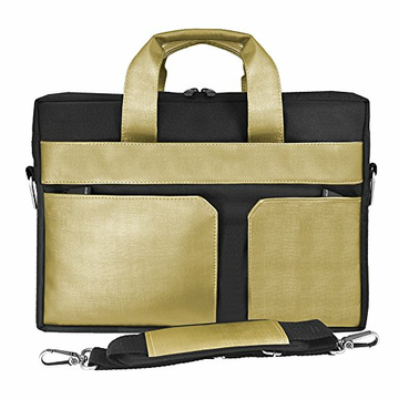 e5 Boston Nylon Tasche für 15.6 Notebook, Gold