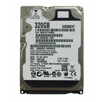 320GB Western Digital Scorpio Black Festplatte
