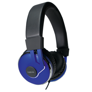 Logilink On-Ear Stereo Headset mit extra weichen...